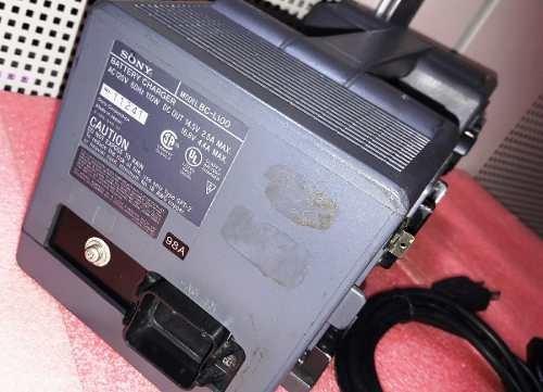 carregador de 4 bateria filmadoras sony bc-l100 garantia