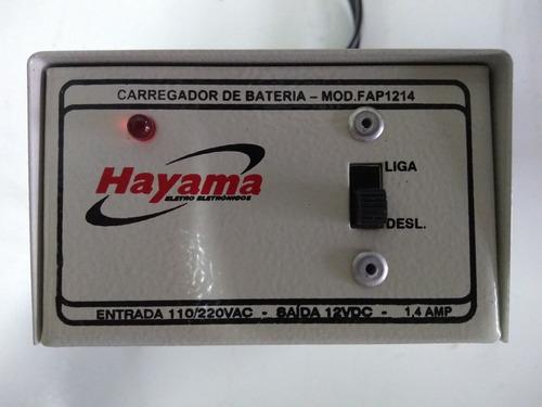 carregador de bateria 110/220v p/ 12v 1,4 a  ler descrição!®