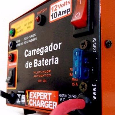carregador de bateria 12 v 10 ah automático e c/ reativador