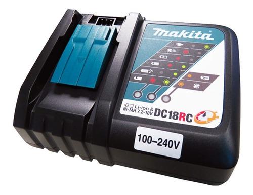 carregador de bateria 18v e 14.4v makita bivolt - dc18rc
