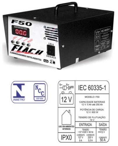 carregador de bateria 50a - f-50 dig. - 12v inteligente - ci
