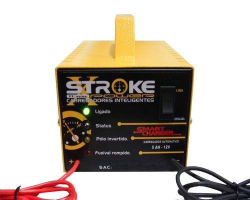 carregador de bateria 5ah 12v c/led inteligente frete grátis