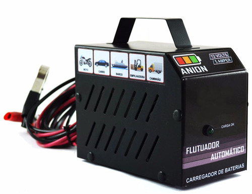 carregador de bateria automotivo 12v - 5a. moto, carro etc..