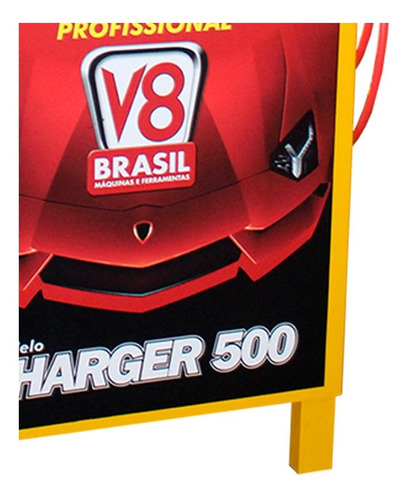 carregador de bateria automotivo 50a bivolt c/ auxiliar v8