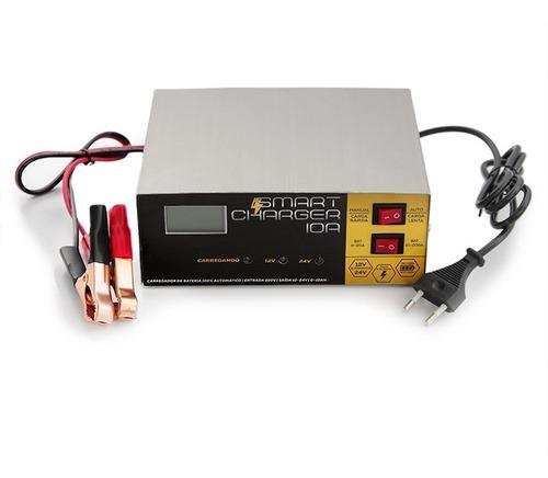 carregador de bateria caminhao 24 volts 24v / carro 12v 10ah