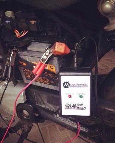 carregador de bateria carro moto 12v automático inteligente