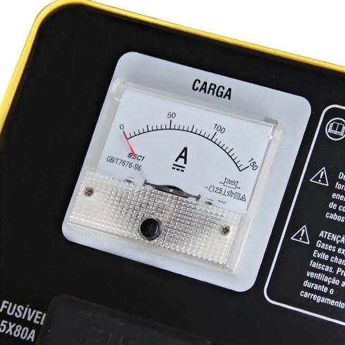 carregador de bateria com auxiliar de partida 12 / 24v cbv 5