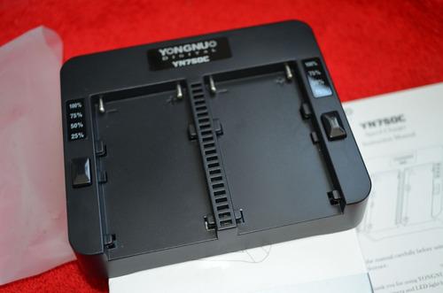 carregador de bateria duplo sony np-f yongnuo yn750c + fonte