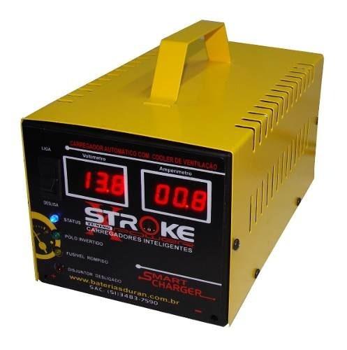 carregador de bateria stroke power 32ah 12v inteligente