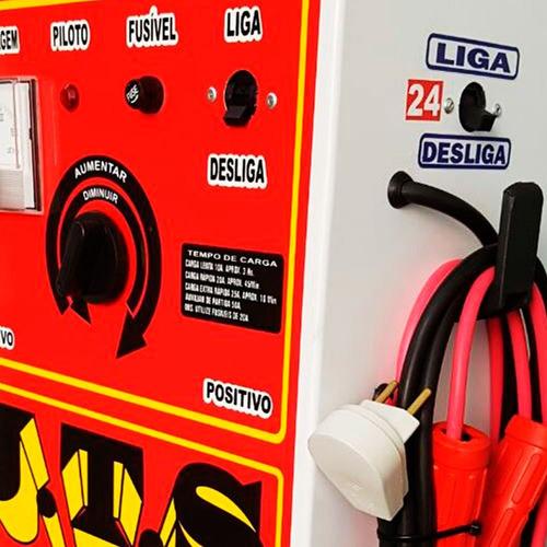 carregador de baterias 12/24v 150a  com auxiliar de partida-
