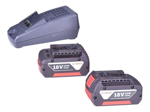 carregador de baterias bosch bivolt +2 baterias 18v maquifer