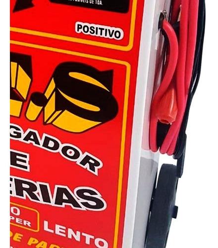 carregador de baterias jts-003 50 amperes p/ carro - moto