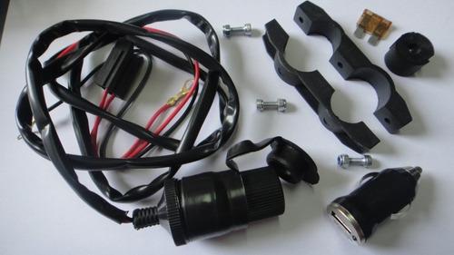 carregador de celular e gps moto universal 12v 120w