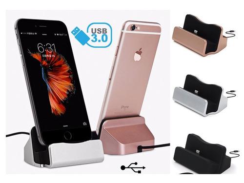 carregador de mesa p/ iphone 5s 5c 6 6s 7 e 8 preto