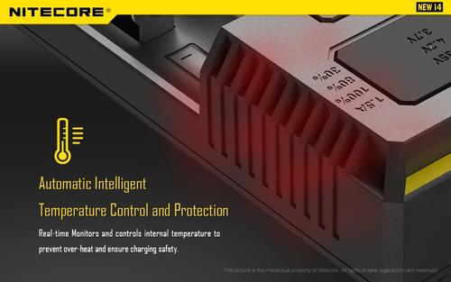 carregador de pilhas da nitecore new i4 ótimo p/ eneloop