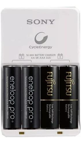 carregador de pilhas sony cycle energy para pilhas aa/aaa