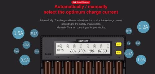 carregador digital para pilhas e baterias smart cr123