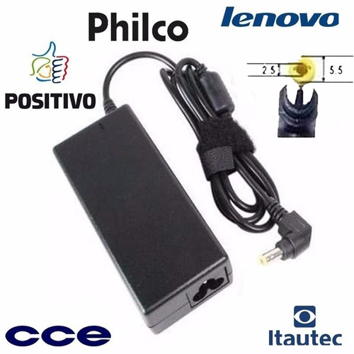 carregador do notebook positivo premium unique sim 19v 3.42a