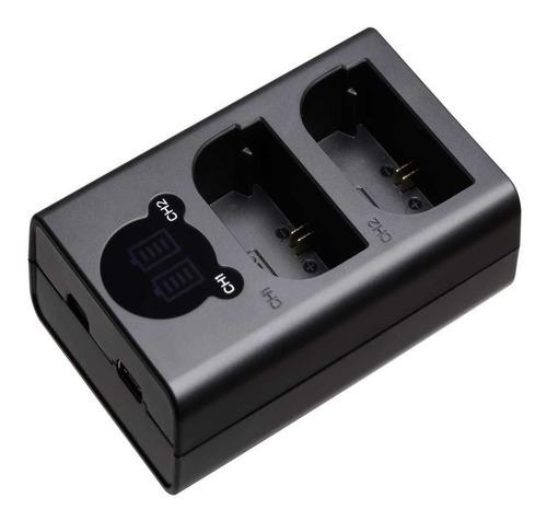 carregador duplo en-el15 para nikon d500; d600, d610,  d750