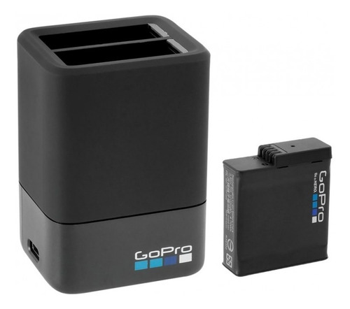 carregador duplo hero7,6 ou 5 + bateria original - aadbd-001