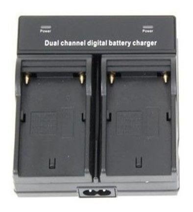 carregador duplo sony np f550 f570 f750 f770 f970 led cn 160