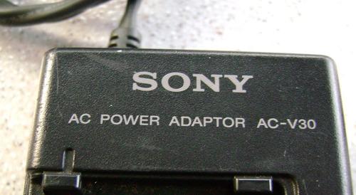 carregador eliminador de baterias sony ac-v30- filmadora