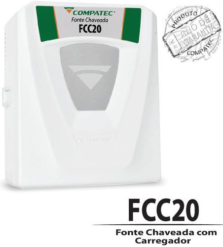 carregador flutuante bateria selada fcc20 compatec