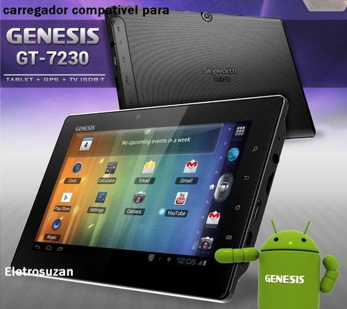 carregador fonte para tablet genesis gt 7230