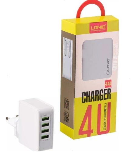 carregador inteligente 4 porta usb super charger 4.4a