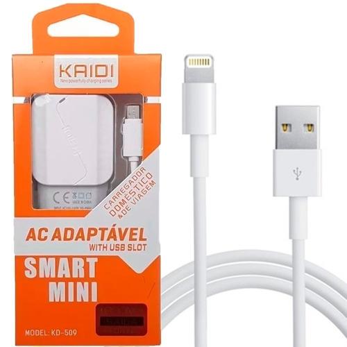 carregador kaidi fast  charger rápido iphone 5 6 6s 7 8