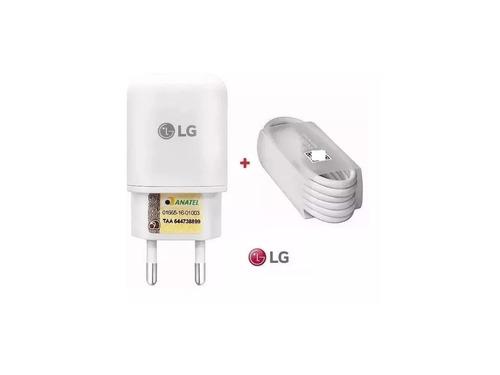 carregador original lg turbo + cabo k10 power k10 2017 g4