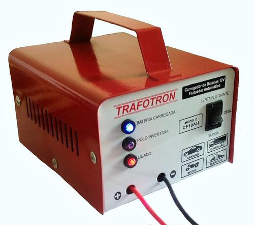 carregador para bateria 12v moto e carro cf10ah automatico