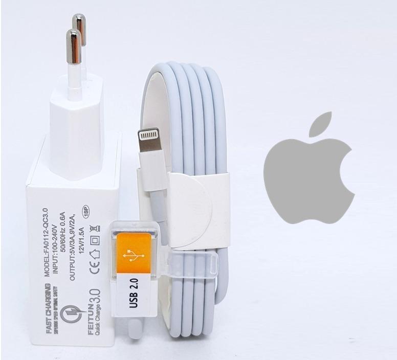 0162879efd9 Carregador Para iPhone 5 6 E 7 Carga Rápida + Cabo - R$ 81,99 em ...