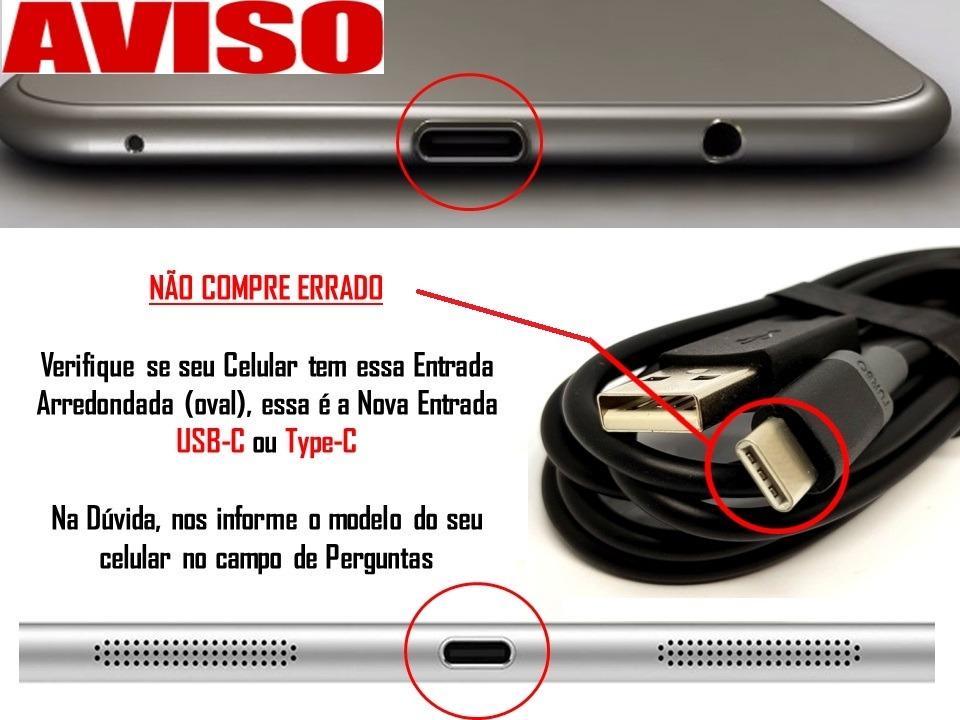 Carregador Para Motorola Moto Z2 Play + Cabo Turbo Usb-c