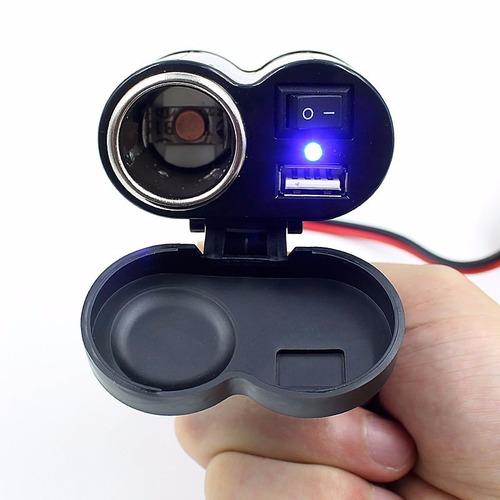 carregador para uso em motos para carregar celular e gps