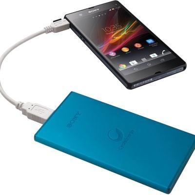 carregador portátil sony 5000mah tablet smartphone