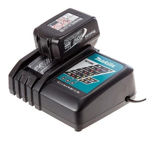 carregador rápido dc18rc bivolt bateria 14.4v e 18v makita