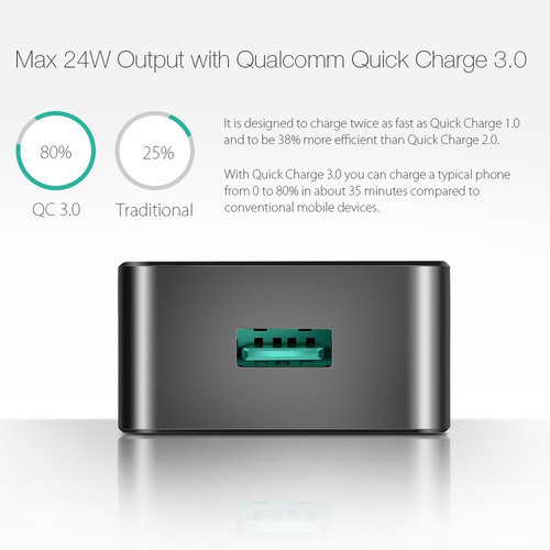 carregador rapido turbo blitzwolf bw-s5 quick charge 3.0