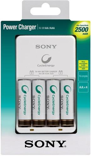 carregador sony 4 pilhas aa 2500mah recarregavel portatil