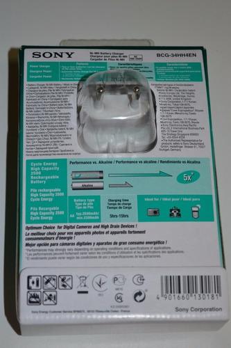 carregador sony 4 pilhas aa2500mah recarregavel portatil