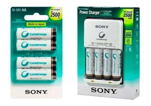 carregador sony +8 pilhas aa recarregaveis 2500 mah