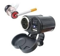 carregador tomada de moto 12v usb adaptador acendedor cigarr