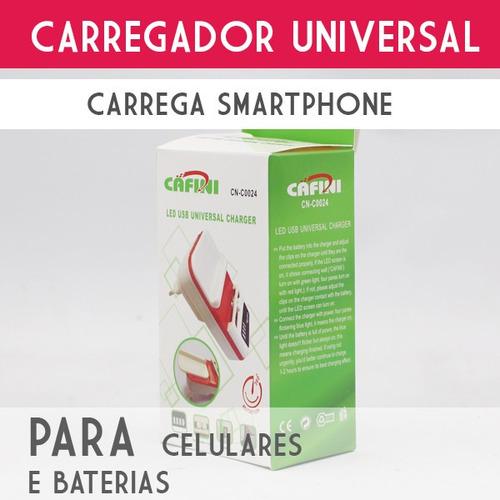 carregador universal saída usb 5v p/ celular lg novo