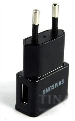 carregador usb samsung + cabo usb