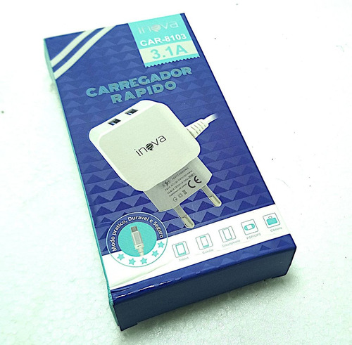 carregador v8 tomada 3.1 g69 v8 novo para celular lg k8 k10