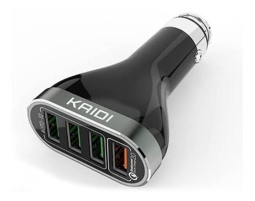 carregador veicular 6.6a quick charge 3.0 4 portas kaidi 104