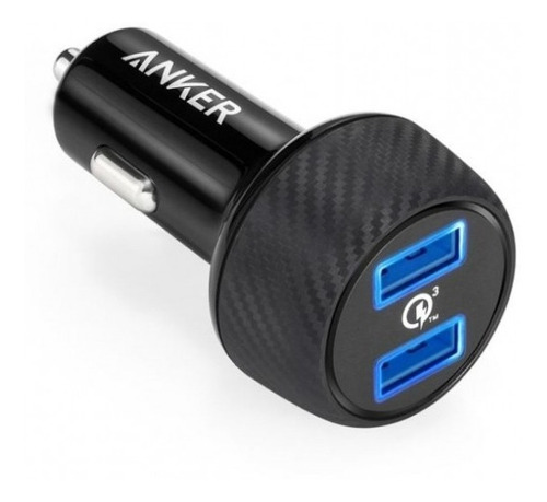 carregador veicular anker powerdrive speed 2 2x usb 3.0