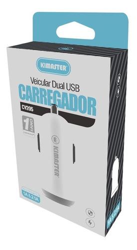 carregador veicular duplo universal com 2 usb cv205