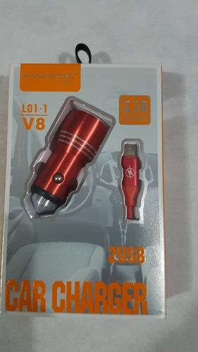carregador veícular rapido 2usb 3.1a 12-24v metal original