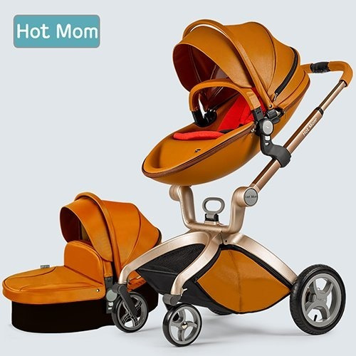 carreola bebe europea hot mom de piel travel system camel